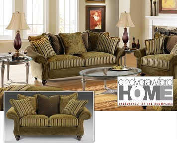 Part Of Our Cindy Crawford Home Collection, The Woodrow Furniture Set Is  Gracefully Distinct. Complete With Five Back Pillows And Two Toss Pillows,  ...