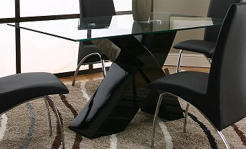 Glass Dining Room Table - Abby Table