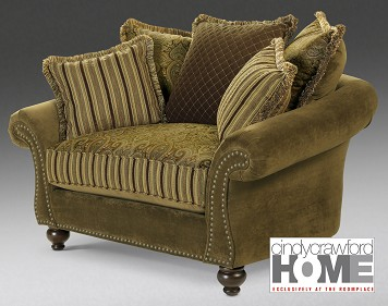 Living Rooms  |  The Woodrow Collection  |  Chair and a Half  by Cindy Crawford