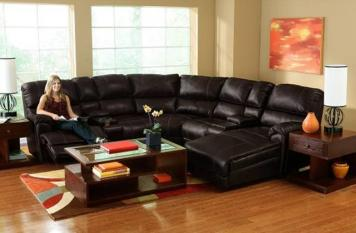 Aiden Faux Leather 4 Piece Sectional