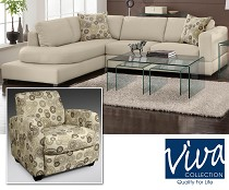 The Alora leather living room set