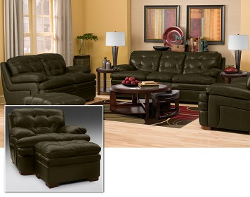 Antonia 9 Piece Leather Living Room Collection