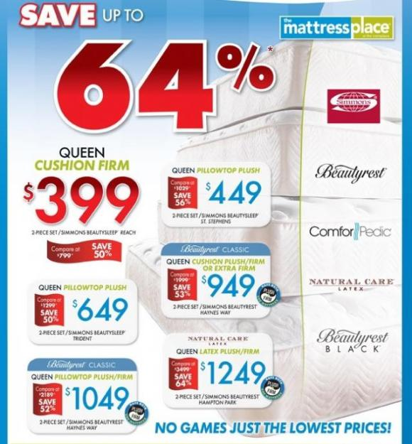 Mattresses on sale at The RoomPlace