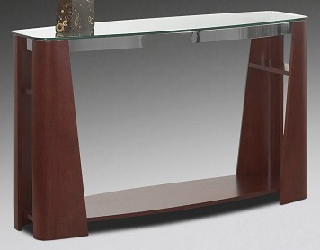 Sofa table glass and wood