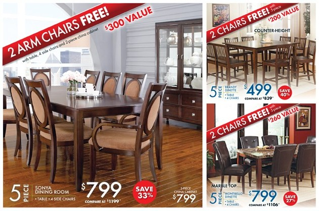 Dining Room and dinettes on sale at The RoomPlace