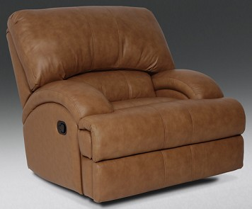 Tan Leather recliner from The RoomPlace