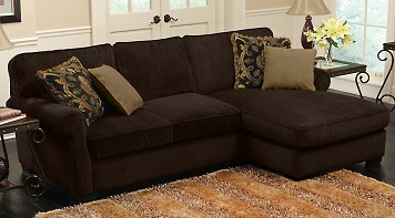Grand Isle Brown Soft 2 Piece Sectional Living Room Set