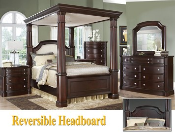 Grandeur Canopy 9 Pc. Queen Canopy Bedroom