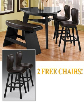 The Irma Collection     4 Pc. Dinette Plus Two Free Chairs