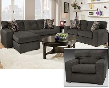 Gentil 3 Piece Living Room Set