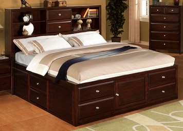 Modern Queen Storage Bed