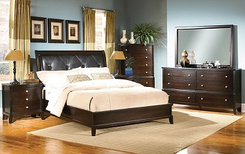Modern Bedroom Furniture From Chicago Furniture Stores The RoomPlace Madrid 8  Piece Bedroom Set