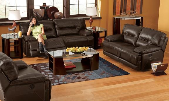 Marco Leather Recliner Livnig Room Set