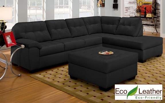 BLack Sectional Sofa from The RoomPlace