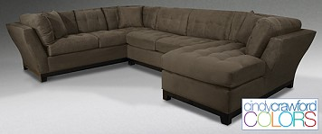 3 piece sectional cindy crawford furniture from the roomplace - Cindy Crawford Furniture