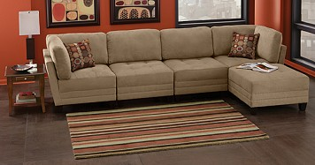 Living room 5 piece sectional