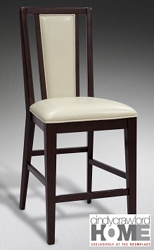 Counter Height Chair espresso and neutral