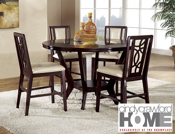 cindy crawford home dining room table and 4 chairs the roomplace