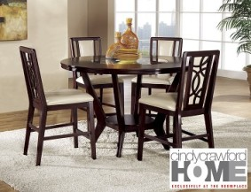 Cindy Crawford Home Dining Room Table and 4 Chairs – The RoomPlace