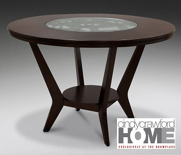 Round Dining Room Table Cindy Crawford ...