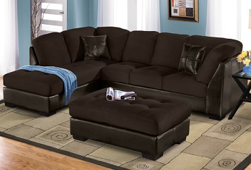 The Northshore II Collection     2 Pc. Sectional plus Free Cocktail Ottoman