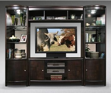new media center reston 4 piece wall unit the roomplace
