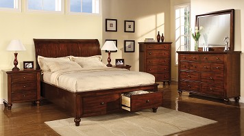 Modern meets traditional with rosewood bedroom sets the for Room place furniture