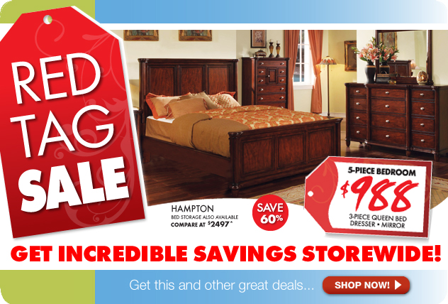 Storewide Savings During The Red Tag Sale at The RoomPlace