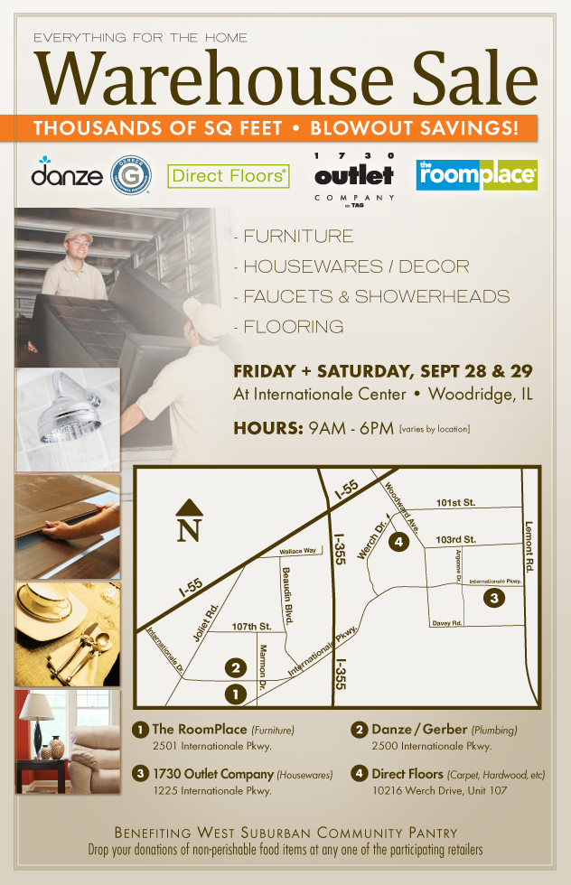 Huge Warehouse Sale with Furniture housewares and