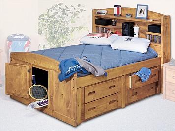 Sundance Full Captain's Bed w/ Bookcase Headboard