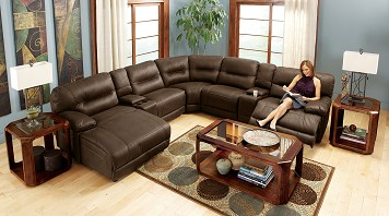 The Polo Collection  7 Pc. Power Sectional (Reverse)