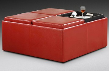 The Trey Collection  Cube Ottoman
