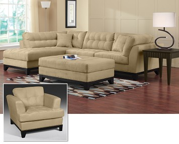 The Uptown II Sectional Collection 6 pc with Ottoman