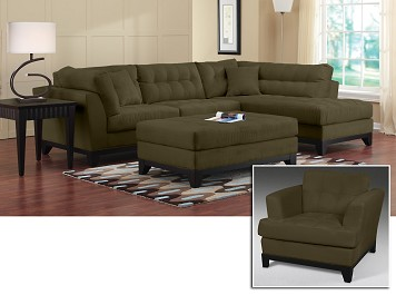 Sectional sofas - Uptown V Sectional 6 Pc. Sectional Living Room w/ Ottoman