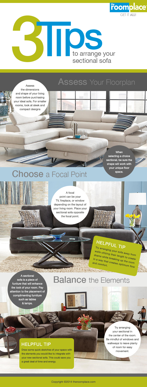 3 tips to arrange your sectional sofa