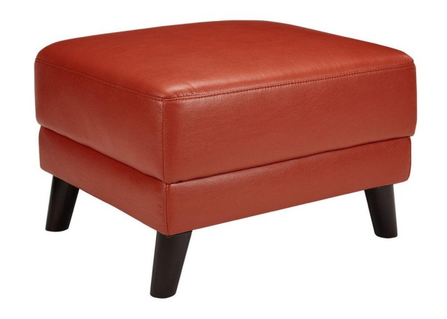 Natalie Orange Ottoman