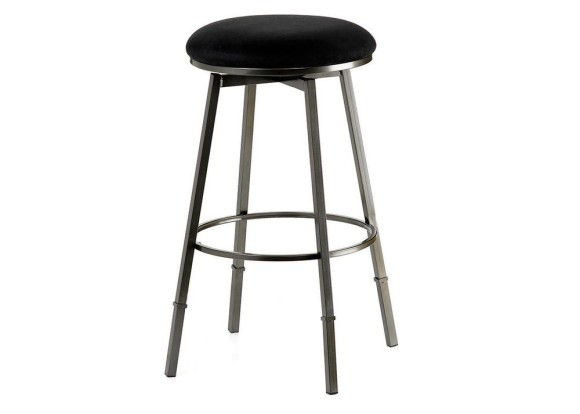 Sanders Black Adjustable Stool