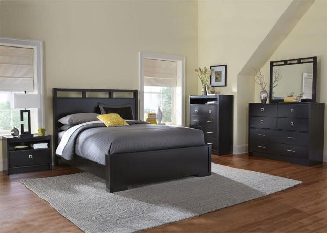 black bedroom set