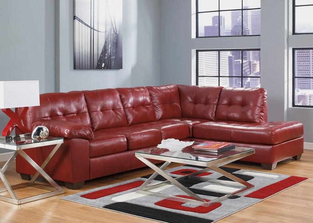 Red Sectional Sofa & How to Choose a Coffee Table for a Sectional With Chaise \u2013 The RoomPlace