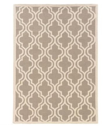 Linon Quatrefoil Gray Area Rug From The RoomPlace