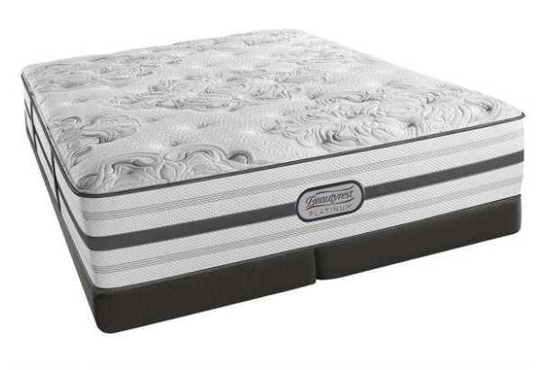 Simmons BeautyRest Platinum Fairview King Firm Low Profile Mattress Set From The RoomPlace