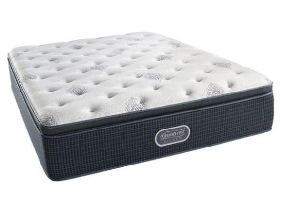 Simmons Beautyrest Silver Sasha Twin Plush Pillow Top Mattress From The RoomPlace