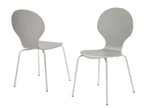 Image: Brinnon Gray 4 Piece Dining Chair Set From The RoomPlace