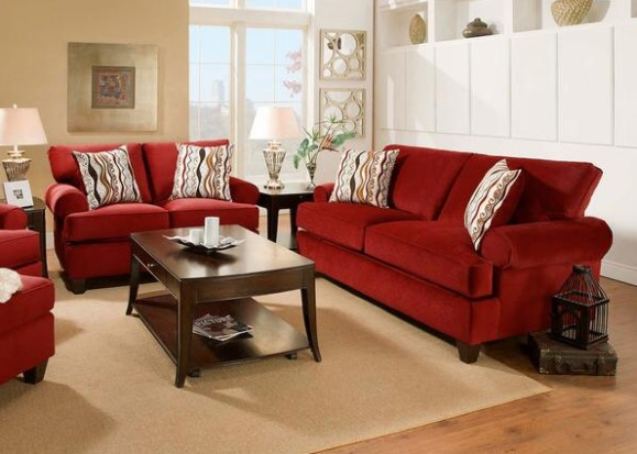 Casino Red 3 Pc. Living Room from The RoomPlace