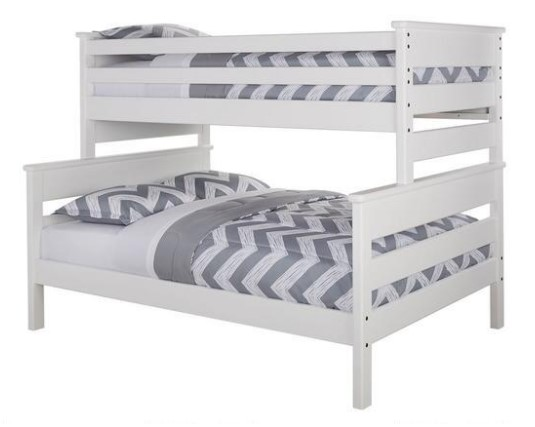 Catalina White Twin/Full Bunk Bed From the RoomPlace