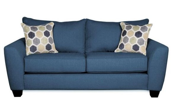 Image: Heritage Blue Loveseat From The RoomPlace