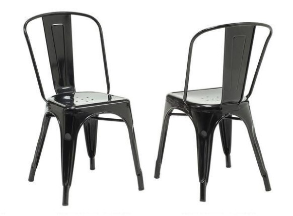 Holton Black 2 Piece Dining Chair Set From the RoomPlace