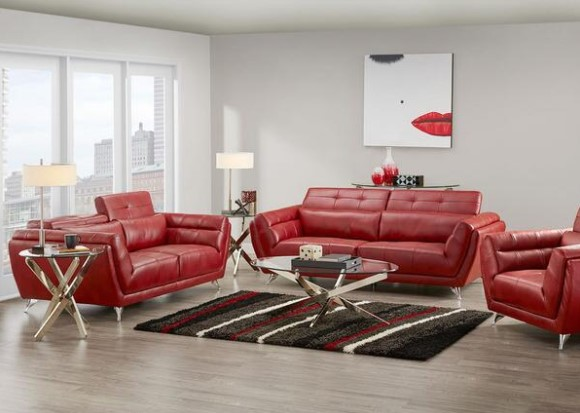 5 colorful living room sets we love the roomplace for Colorful living room furniture sets