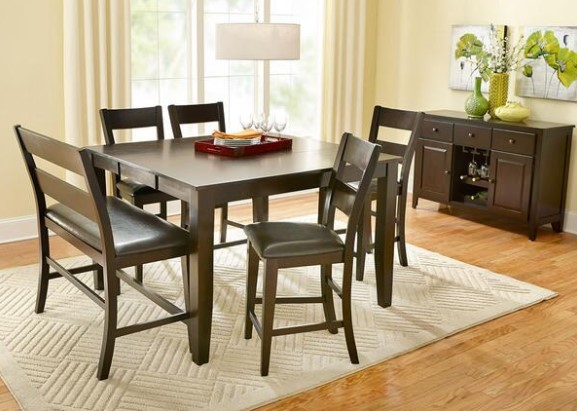 Contemporary Casual Trending Looks Series Nicki 5 Pc. Counter Height  Dinette From The RoomPlace