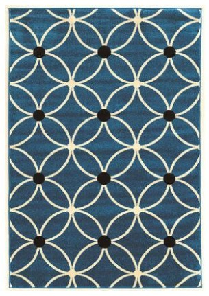 Linon Cylinder Blue Area Rug From The RoomPlace